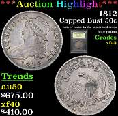 ***Auction Highlight*** 1812 Capped Bust Half Dollar