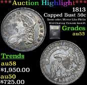 ***Auction Highlight*** 1813 Capped Bust Half Dollar