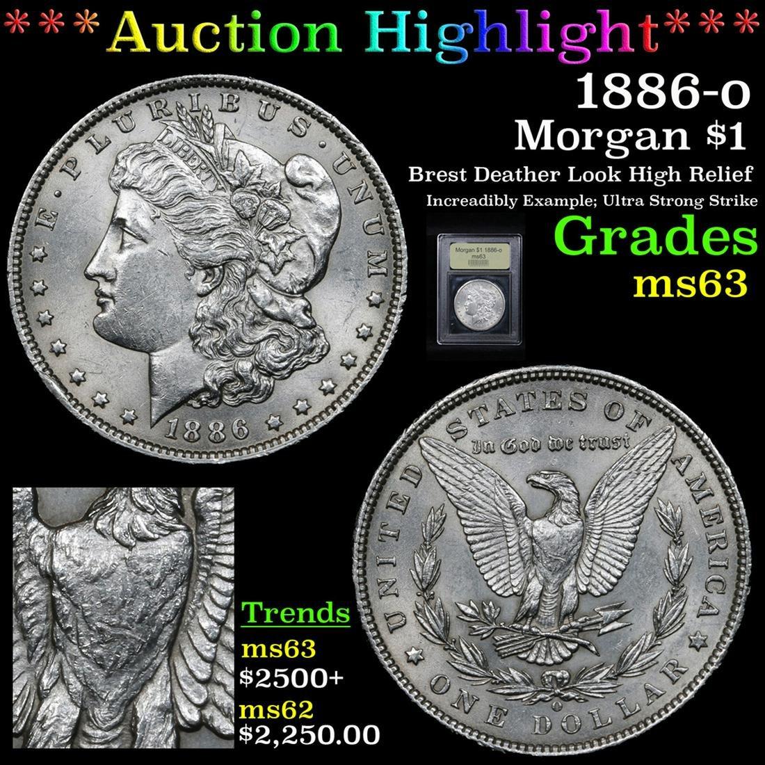 ***Auction Highlight*** 1886-o Morgan Dollar $1 Graded