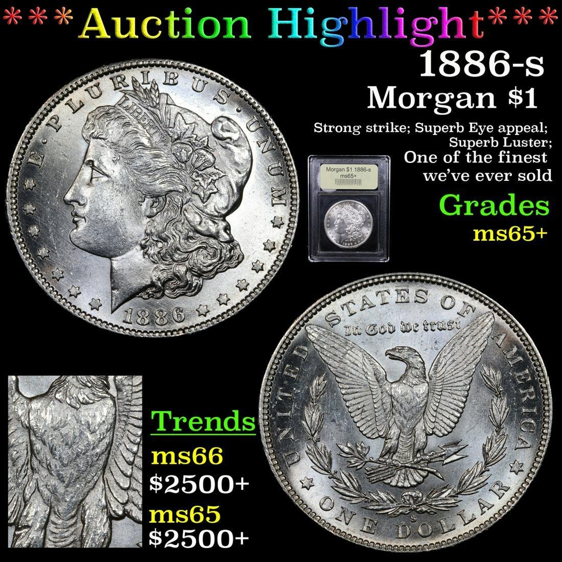 ***Auction Highlight*** 1886-s Morgan Dollar $1 Graded