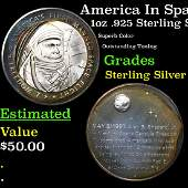 America In Space Americas First Manned Space Flight 1oz