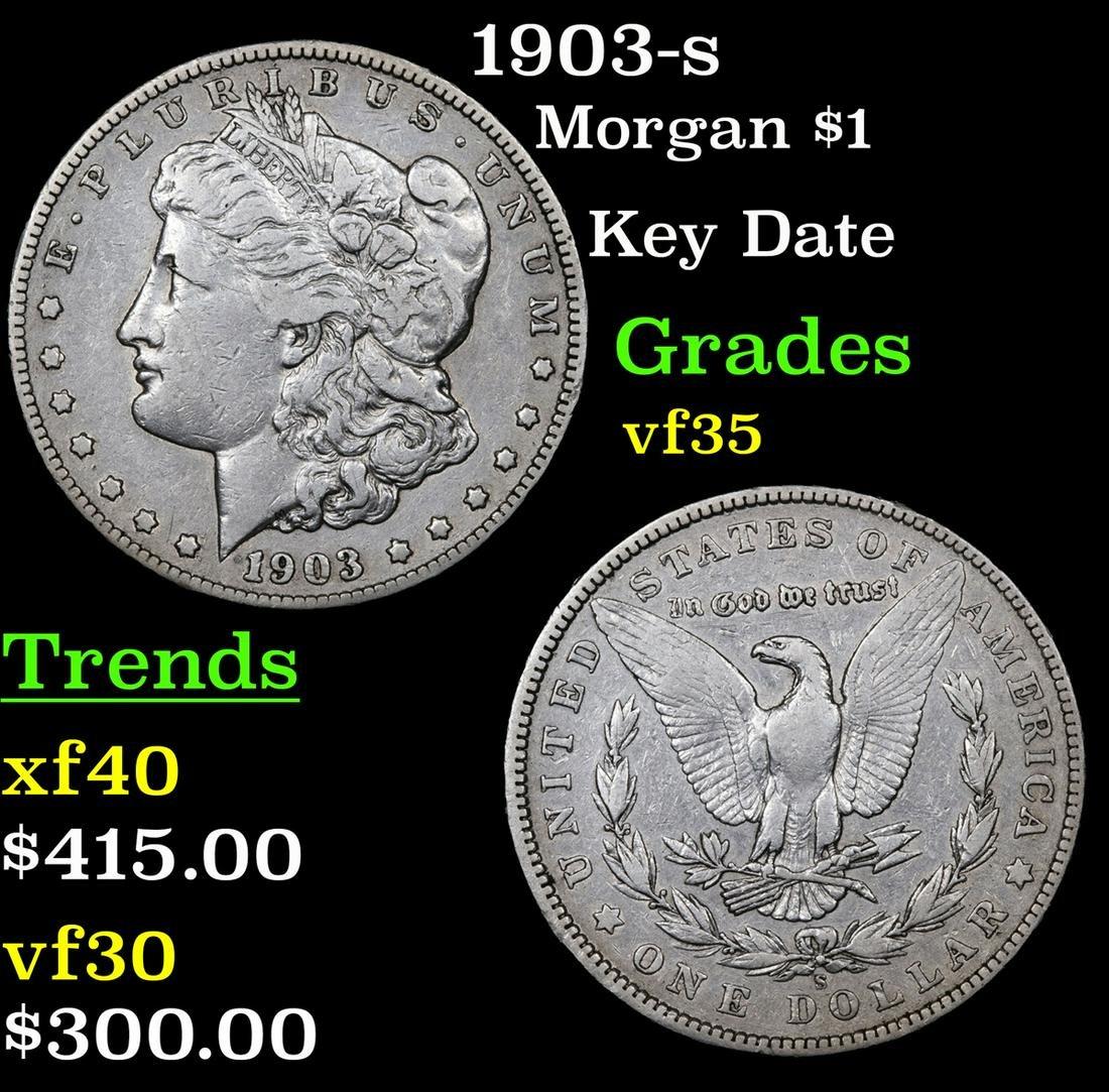 1903-s Morgan Dollar $1 Grades vf++