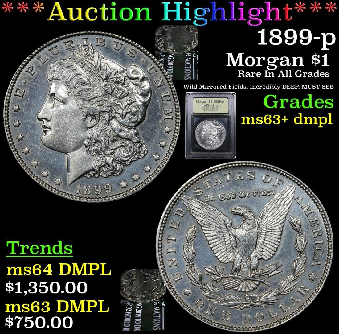 ***Auction Highlight*** 1899-p Morgan Dollar $1 Graded