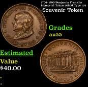 1706 1790 Benjamin Franklin Memorial Token 20MM Type