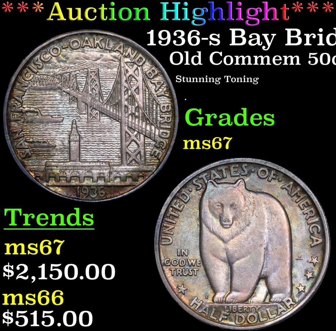 *Highlight* 1936-s Bay Bridge Old Commem 50c Graded