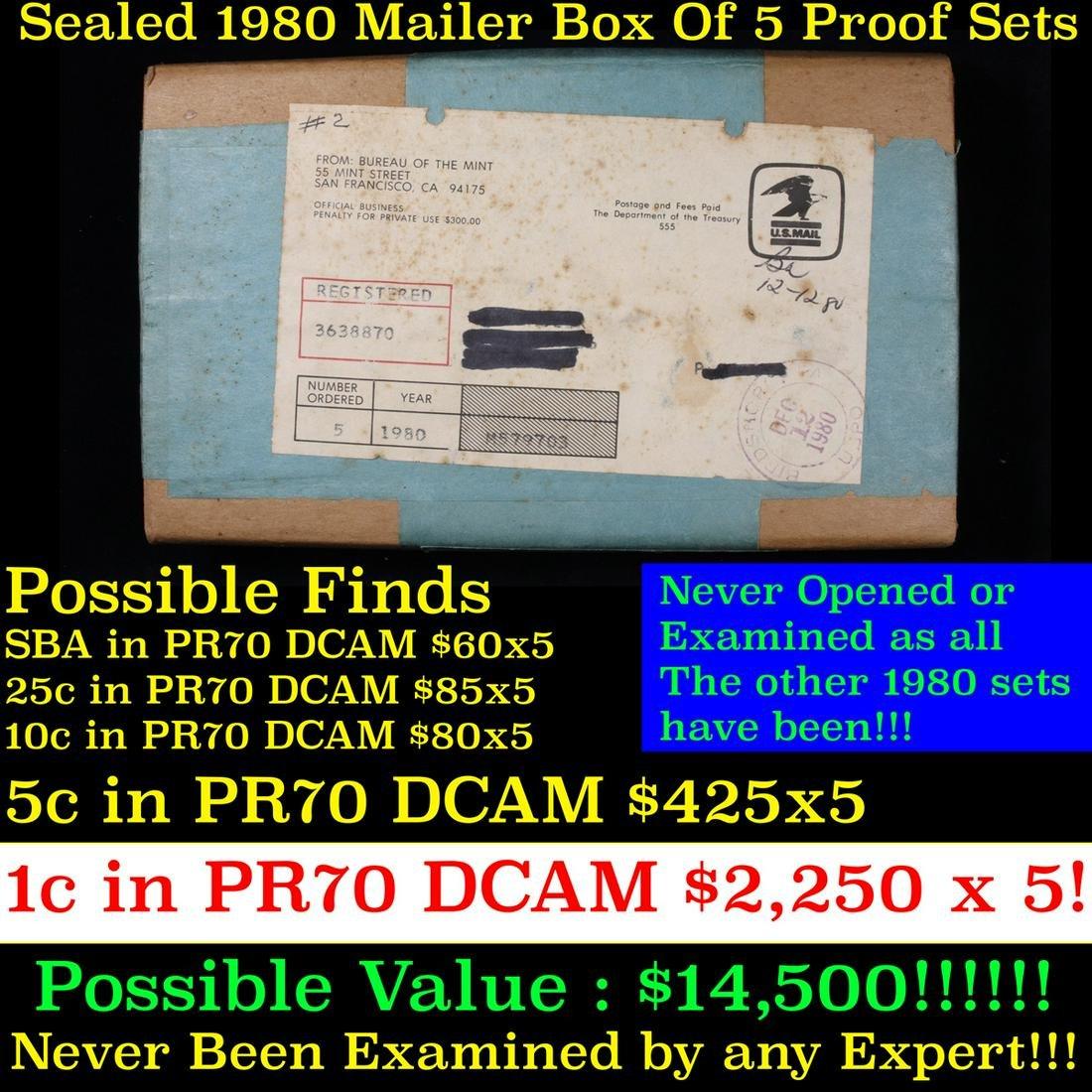 Original sealed box 5- 1980 United States Mint Proof