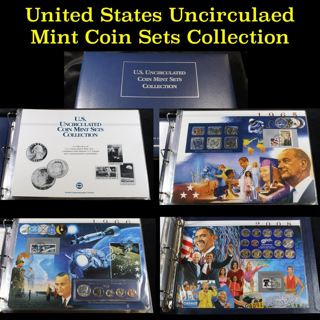 U.S. Uncirculated Coin Mint Sets Collection 1965-2008