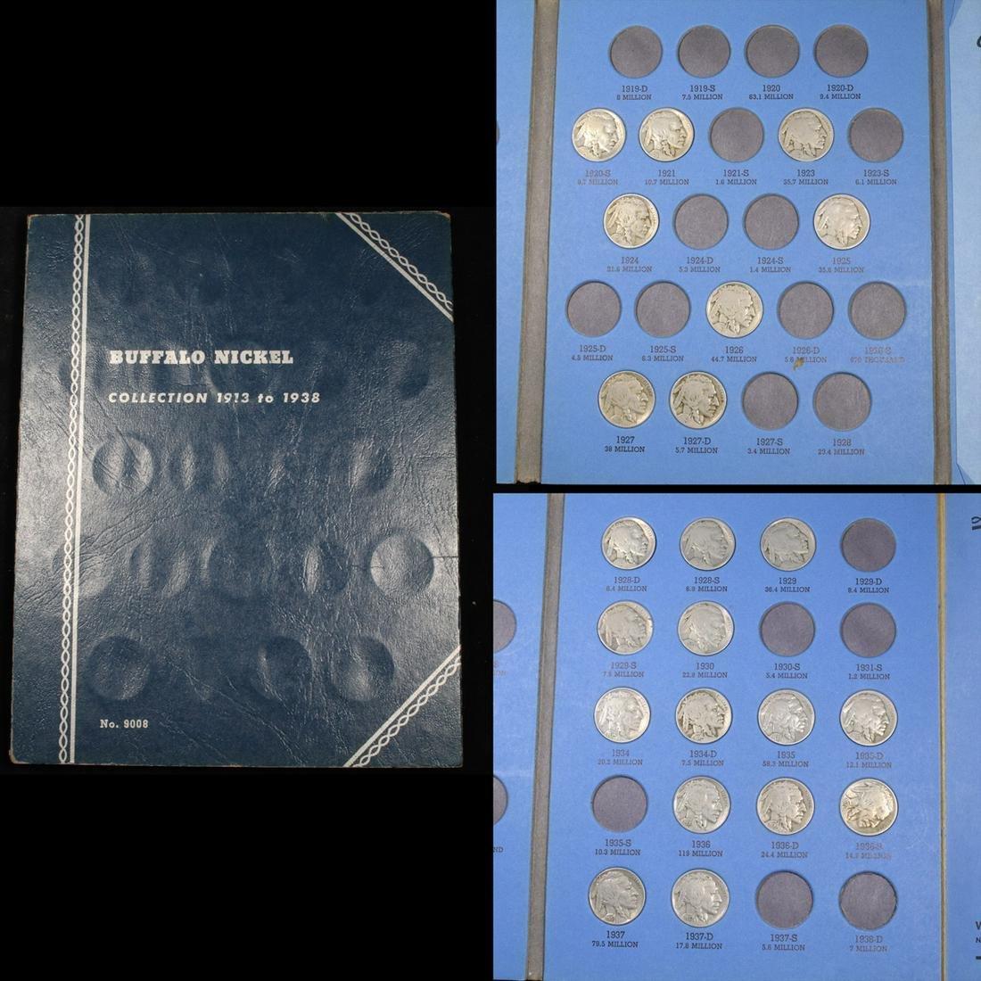 Starter Buffalo Nickel Book 1920-1937 22 Coins Grades