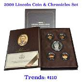 2009 United States Mint Lincoln Coin And Chronicle Set