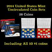 2014 United States Mint Uncirculated Coin Set 28 coins