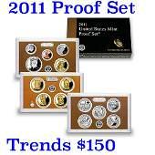 2011 United States Mint Proof Set - 14 pc set Grades
