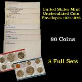 Group of 8 United States Mint Uncirculated Coin Sets In
