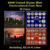 2009 United States Mint Uncirculated Coin Set 36 coins