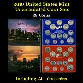 2010 United States Mint Uncirculated Coin Set 28 coins