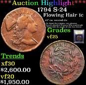 Highlight 1794 S24 Flowing Hair 1c Graded vf