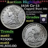 ***Auction Highlight*** 1838 GR-13 Capped Bust Half