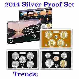 2014 United States Mint Silver Proof Set - 14 pc set,