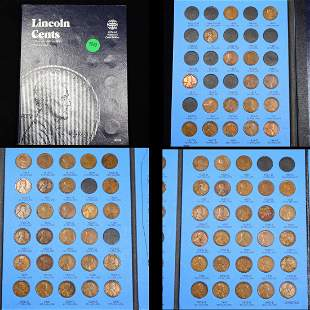 Partial Lincoln Cent Book 1909-1940 73 coins