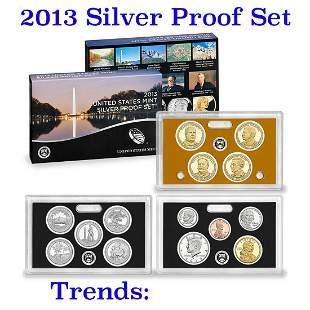 2013 United States Mint Silver Proof Set - 14 pc set,