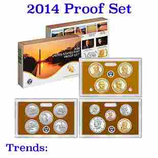 2014 United States Mint Proof Set - 14 Pieces!