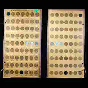Near Complete Lincoln Cent Page 1931-1953 61 coins