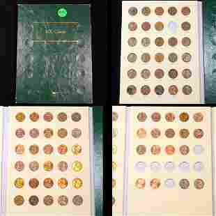 Near Complete Lincoln Cent Book 1944-2010 77 coins