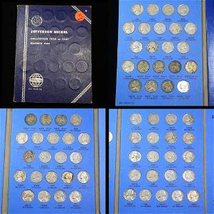 Complete Jefferson Nickel Book 1938-1961 65 coins