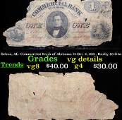Selma, AL- Commercial Bank of Alabama $1 Oct. 2, 1861,