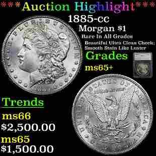 *Highlight* 1885-cc Morgan $1 Graded ms65+