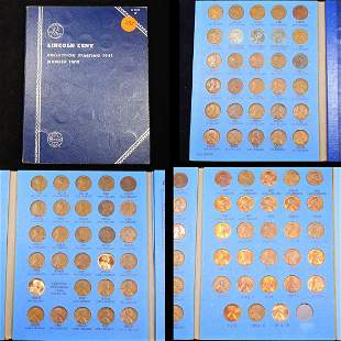 Complete Lincoln Cent Book 1941-1974 87 coins