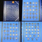 Partial Mercury Dime Book 1916-1945 41 coins