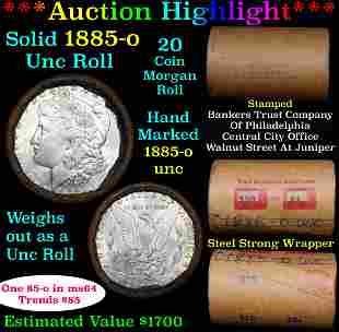 ***Auction Highlight*** Full solid date 1885-o