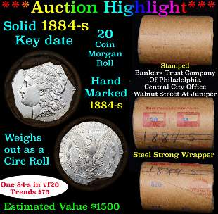 ***Auction Highlight*** Full solid date 1884-s Morgan