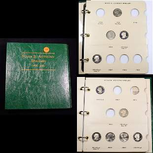 Partial Susan B. Anthony Book 1979-1999 11 coins