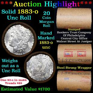 ***Auction Highlight*** Full solid date 1883-o