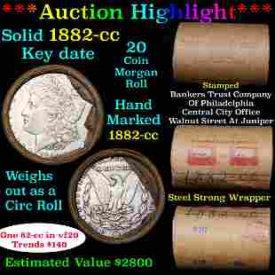 ***Auction Highlight*** Full solid date 1882-cc Morgan