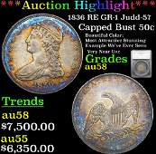 ***Auction Highlight*** 1836 RE GR-1 Judd-57 Capped
