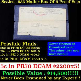 ***Auction Highlight*** Original sealed box 5- 1986
