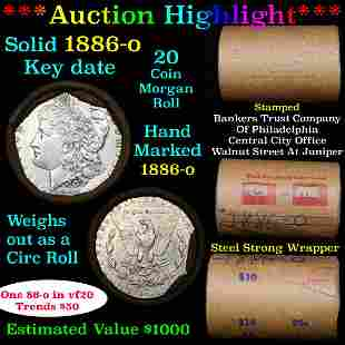 ***Auction Highlight*** Full solid date 1886-o Morgan