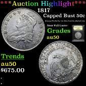 ***Auction Highlight*** 1817 Capped Bust Half Dollar