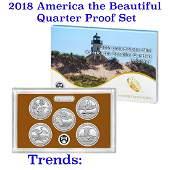 2018 United States America The Beautiful Proof Quarters