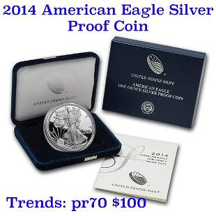 2014 1 oz .999 fine Proof Silver American Eagle orig