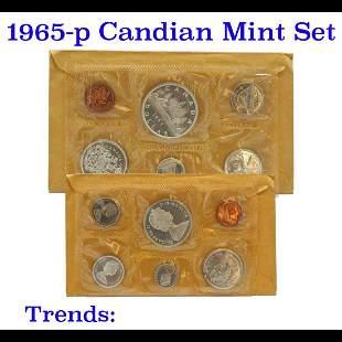 1965 Canadian mint Set 6 coins