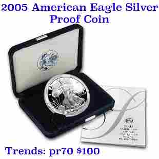 2005-w 1 oz .999 fine Proof Silver American Eagle orig