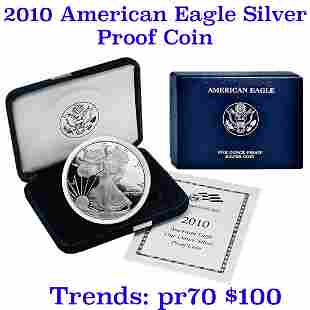 2010-w 1 oz .999 fine Proof Silver American Eagle orig