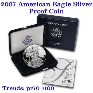 2007-w 1 oz .999 fine Proof Silver American Eagle orig