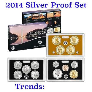 2014 United States Mint Silver Proof Set