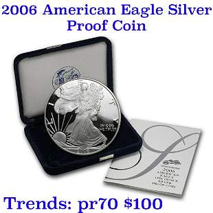 2006-w 1 oz .999 fine Proof Silver American Eagle orig