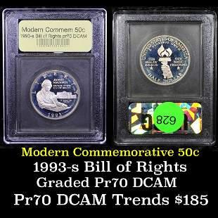 Proof 1993-s Bill of Rights Modern Commem Half Dollar
