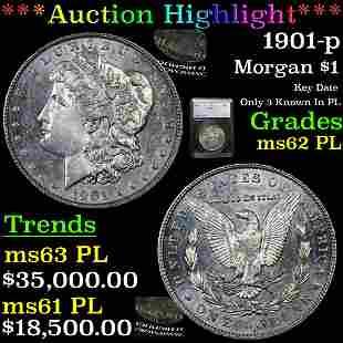 *HIGHLIGHT OF ENTIRE AUCTION* 1901-p Morgan Dollar $1